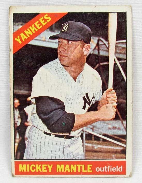 5: 1966 TOPPS MICKEY MANTLE NO. 50 BASEBALL CARD