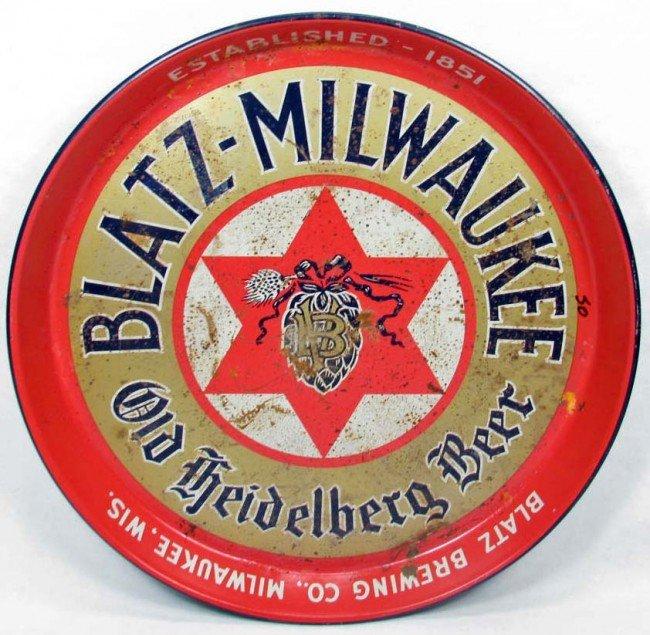 6: C. 1940'S BLATZ - MILWAUKEE OLD HEIDELBERG BEER ADVE