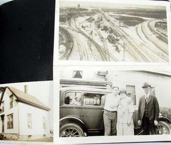 7: C. 1920'S PHOTO ALBUM W/ APPROX. 90 PHOTOS