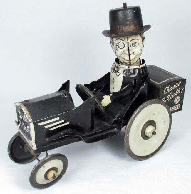 22: C. 1930'S MARX CHARLIE MCCARTHY WIND-UP CRAZY CAR T