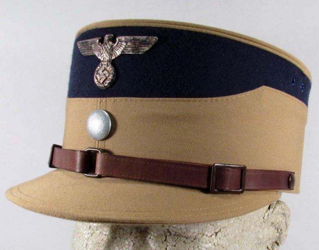 23: RARE WW2 GERMAN NAZI NSDAP/SA COFFEE CAN VISOR CAP