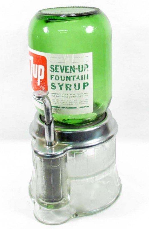 25: VERY RARE VINTAGE 7-UP SODA SHOP SYRUP DISPENSER W/
