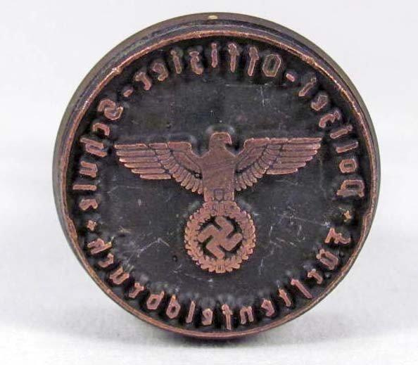 265: WW2 GERMAN NAZI POLIZEI DOCUMENT STAMP