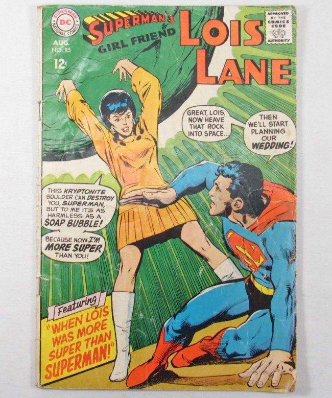 4: VINTAGE LOIS LANE NO. 85 COMIC BOOK W/ 12 CENT COVER