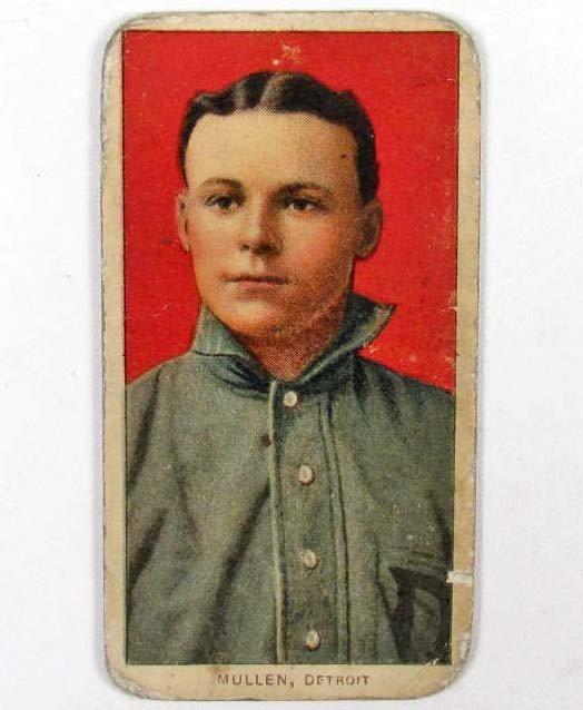 14: 1909 T206 GEORGE MULLEN BASEBALL TOBACCO CARD - PIE