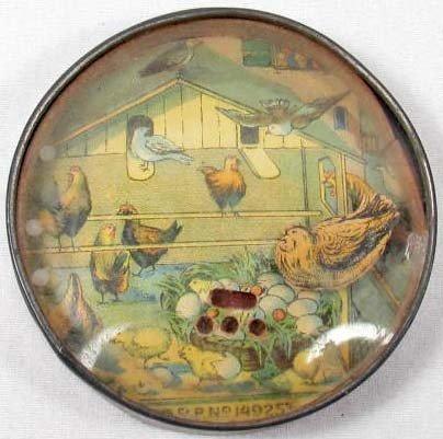 24: C. 1800'S BARNYARD DEXTERITY PUZZLE / MIRROR