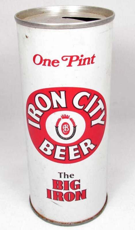 6: VINTAGE IRON CITY BEER FLAT-TOP BEER CAN
