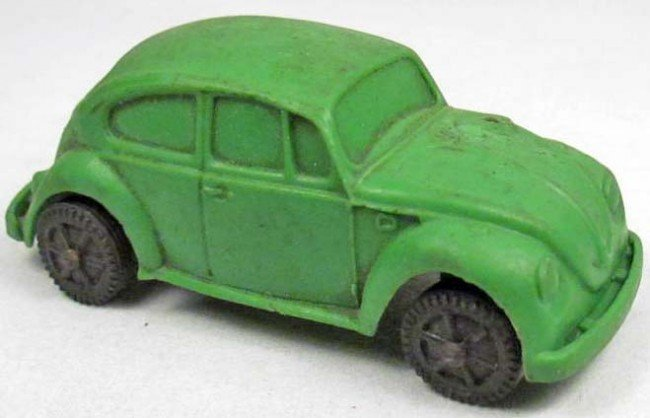 16: VOLKSWAGEN RUBBER TOY CAR - MADE IN W. GERMANY