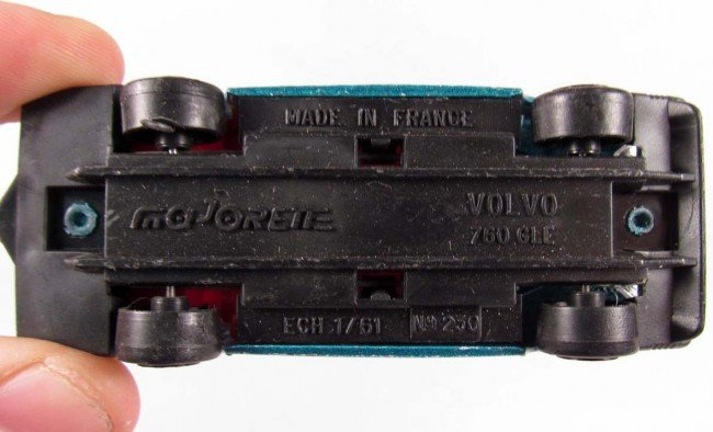 353: MAJORETTE VOLVO 760 GLE DIE CAST TOY CAR - 3