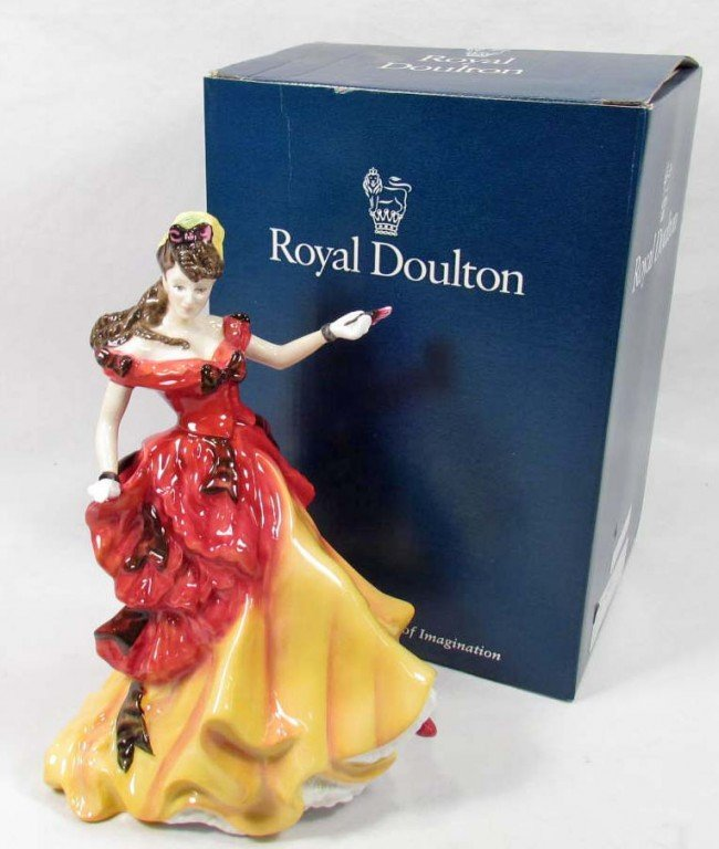 "6: ROYAL DOULTON ""BELLE"" FIGURINE IN ORIGINAL BOX"
