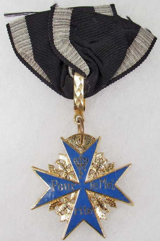 13: POST WW1 IMPERIAL GERMAN POUR LE MERITE BLUE MAX
