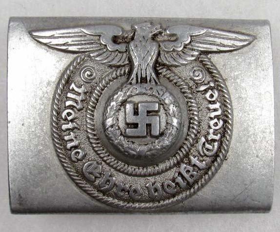 253: RARE GERMAN NAZI WAFFEN SS EM BELT BUCKLE