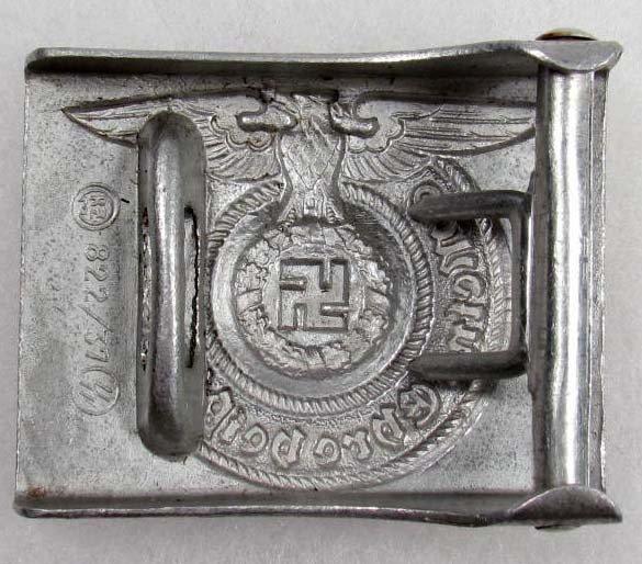 253: RARE GERMAN NAZI WAFFEN SS EM BELT BUCKLE - 2