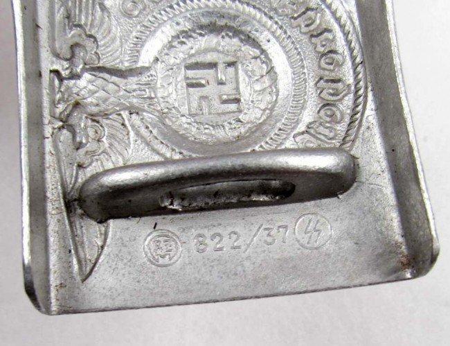 253: RARE GERMAN NAZI WAFFEN SS EM BELT BUCKLE - 3