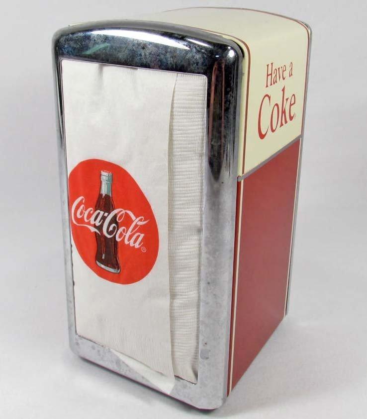 12: COCA-COLA HAVE A COKE NAPKIN DISPENSER - REPRODUCTI
