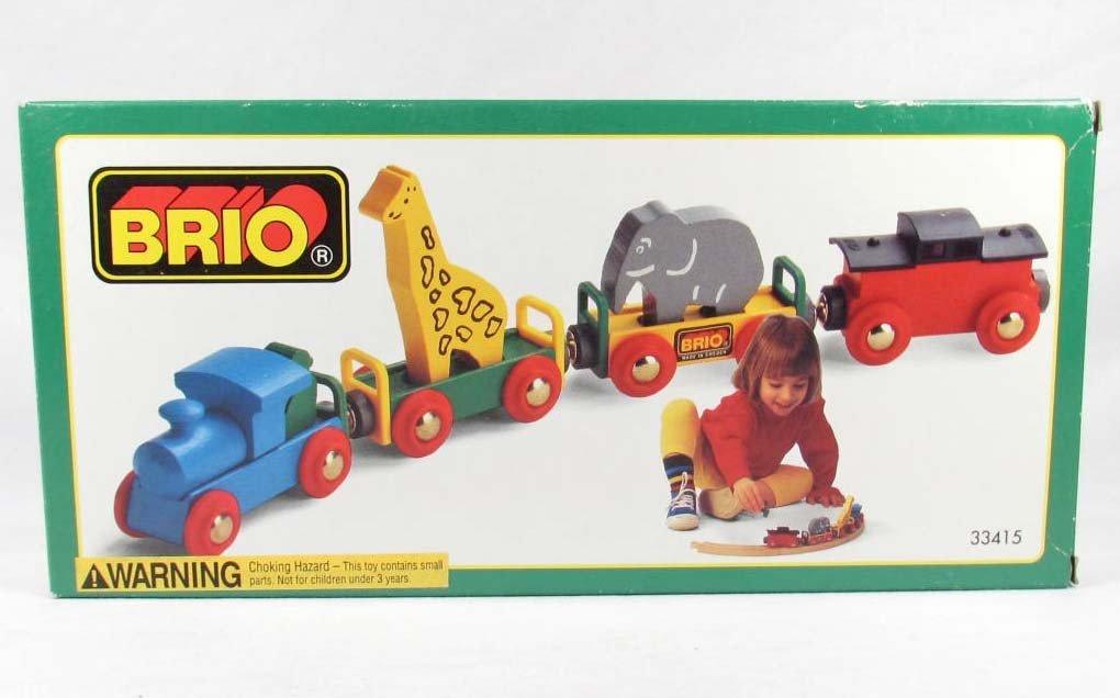 25: OLDER BRIO TRAIN W/ ANIMALS IN ORIGINAL BOX