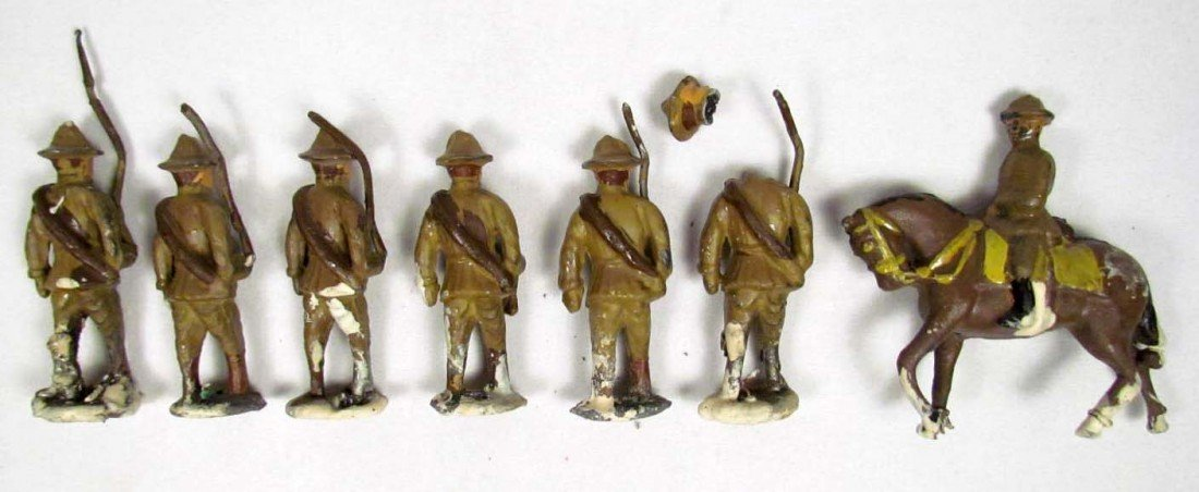 3: LOT OF ANTIQUE LEAD TOY SOLDIERS
