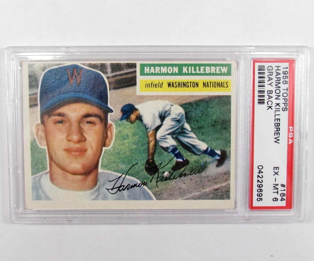 9: 1956 TOPPS HARMON KILLEBREW NO. 164 BASEBALL CARD -