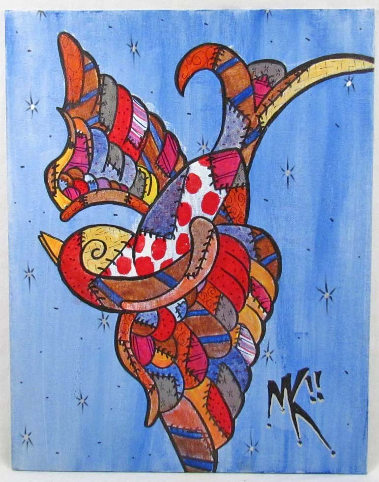 18: ORIGINAL PAINTING BY WELL KNOWN OUTSIDER ARTIST MIC