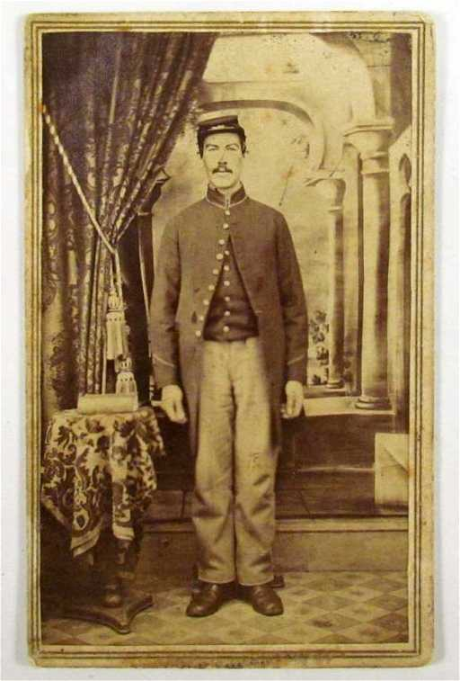 64 US CIVIL WAR NEW HAMPSHIRE CARTE DE VISITE SOLDIER