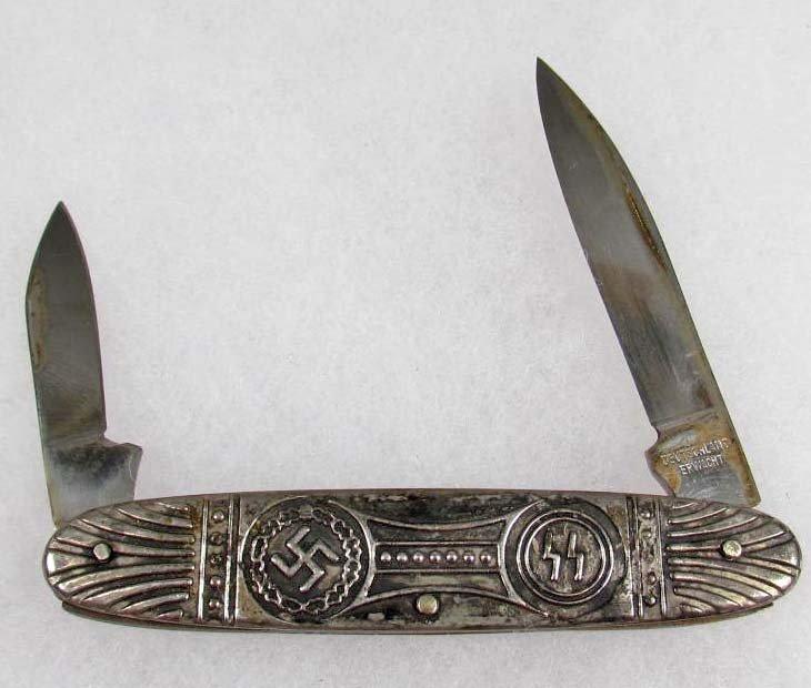 248: GERMAN NAZI SS DEUTSCHLAND ERWACHT POCKET KNIFE