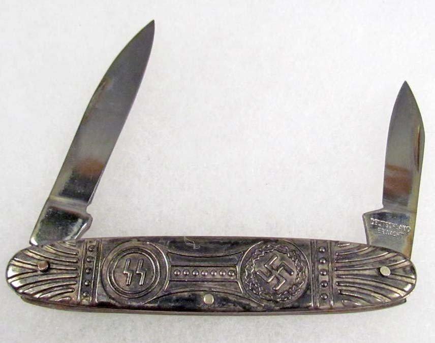 248: GERMAN NAZI SS DEUTSCHLAND ERWACHT POCKET KNIFE - 2