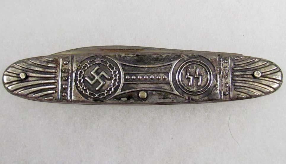 248: GERMAN NAZI SS DEUTSCHLAND ERWACHT POCKET KNIFE - 4