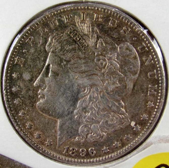 2: 1896 MORGAN SILVER DOLLAR