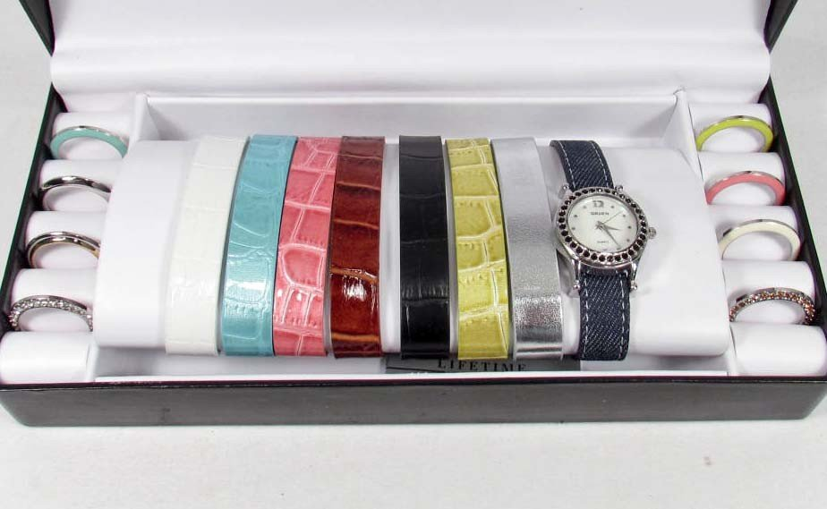 5: GRUEN LADIES WRIST WATCH W/ INTERCHANGEABLE BANDS AN