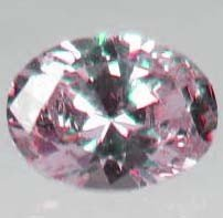 10: 1.25 CT. PINK OVAL DIAMOND - 6MM BY 8MM