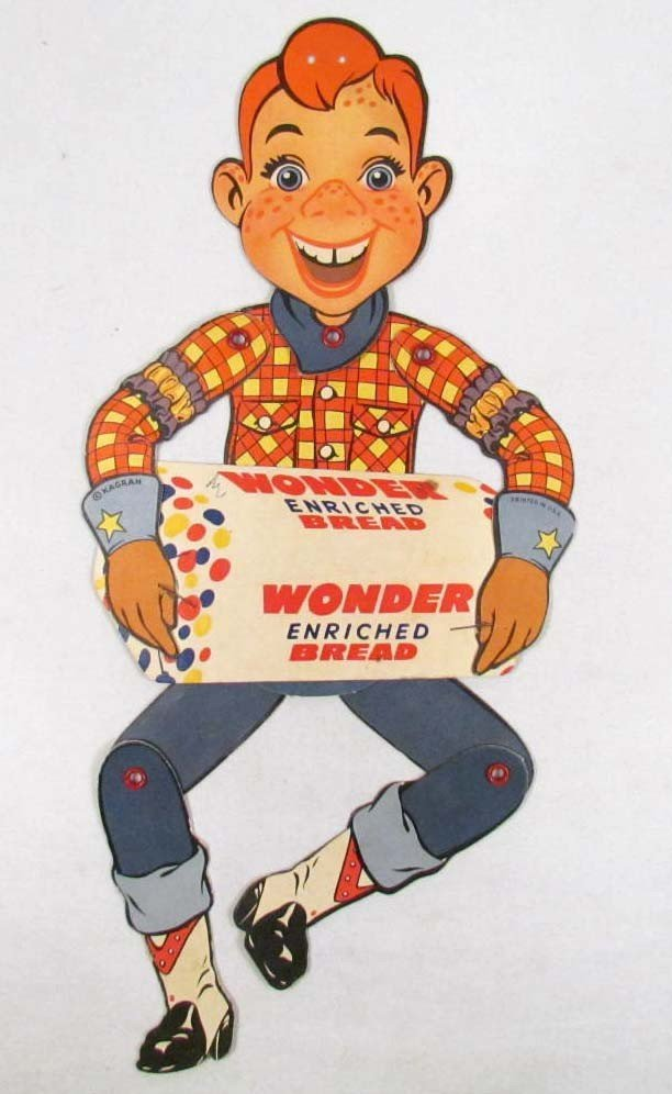 20: VINTAGE HOWDY DOODY DIE CUT PAPER ADVERTISING MARIO