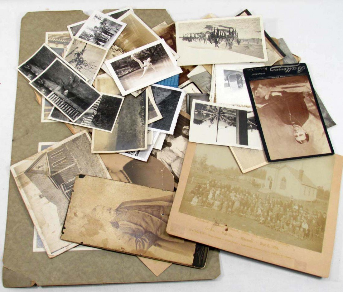 22: LOT OF VINTAGE PHOTOGRAPHS - INCL. CABINET CARD PHO