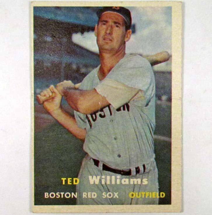 2: 1957 TOPPS TED WILLIAMS NO. 1 BASEBALL CARD