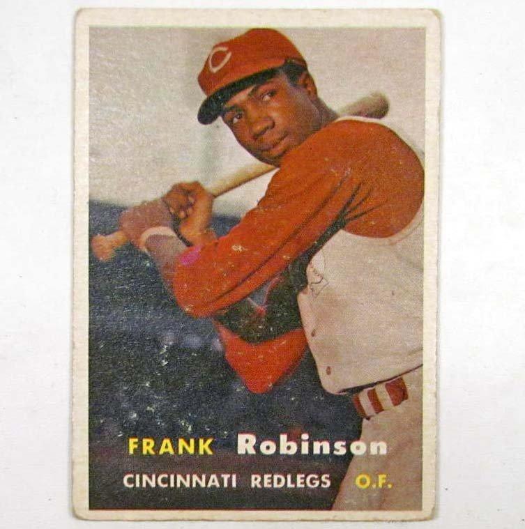 9: 1957 TOPPS FRANK ROBINSON NO. 35 ROOKIE BASEBALL CAR