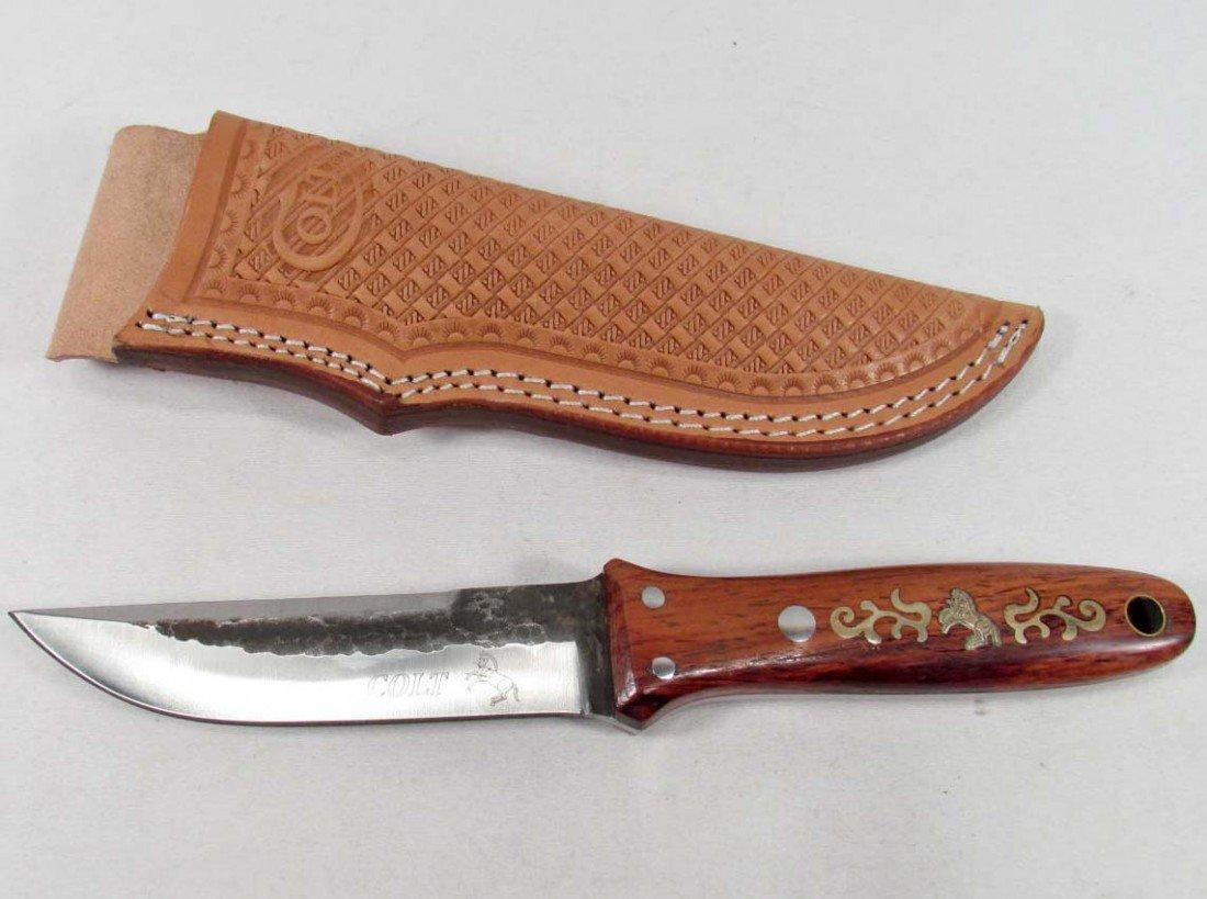 17: COLT HUNTING KNIFE W/ SHEATH