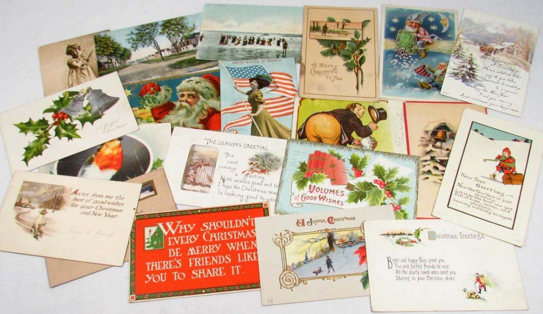 1: 2742 - LOT OF VINTAGE POSTCARDS