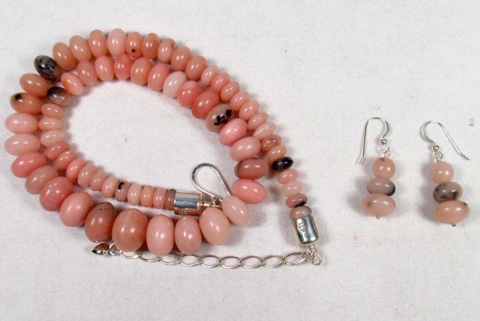 1: ESTATE JEWELRY SET W/ STERLING SILVER CLASPS - 3.6 O