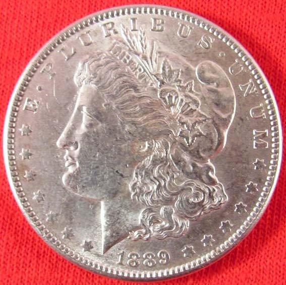 2: 1889-P MORGAN SILVER DOLLAR - BU