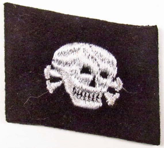 6: RARE GERMAN NAZI WAFFEN SS TOTENKOPF EM SKULL COLLAR