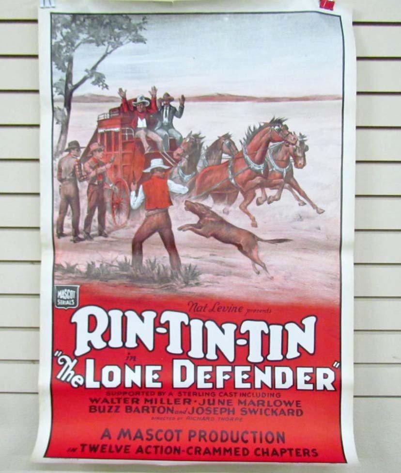 55: VINTAGE RIN-TIN-TIN ONE SHEET SERIAL MOVIE POSTER