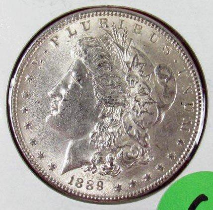 6: 1889-P MORGAN SILVER DOLLAR