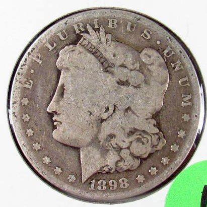 11: 1898-S MORGAN SILVER DOLLAR