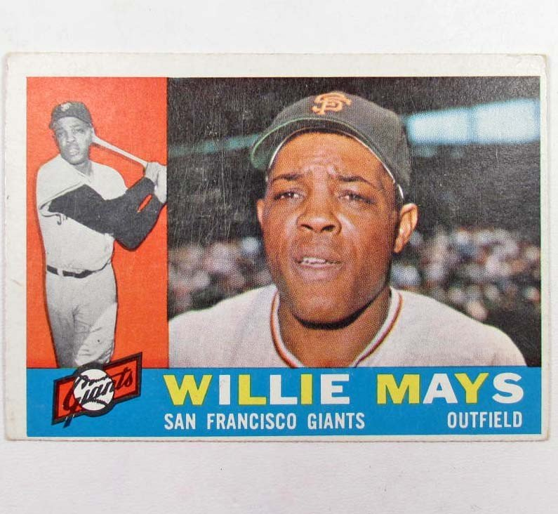 355: 1960 TOPPS WILLIE MAYS BASEBALL CARD