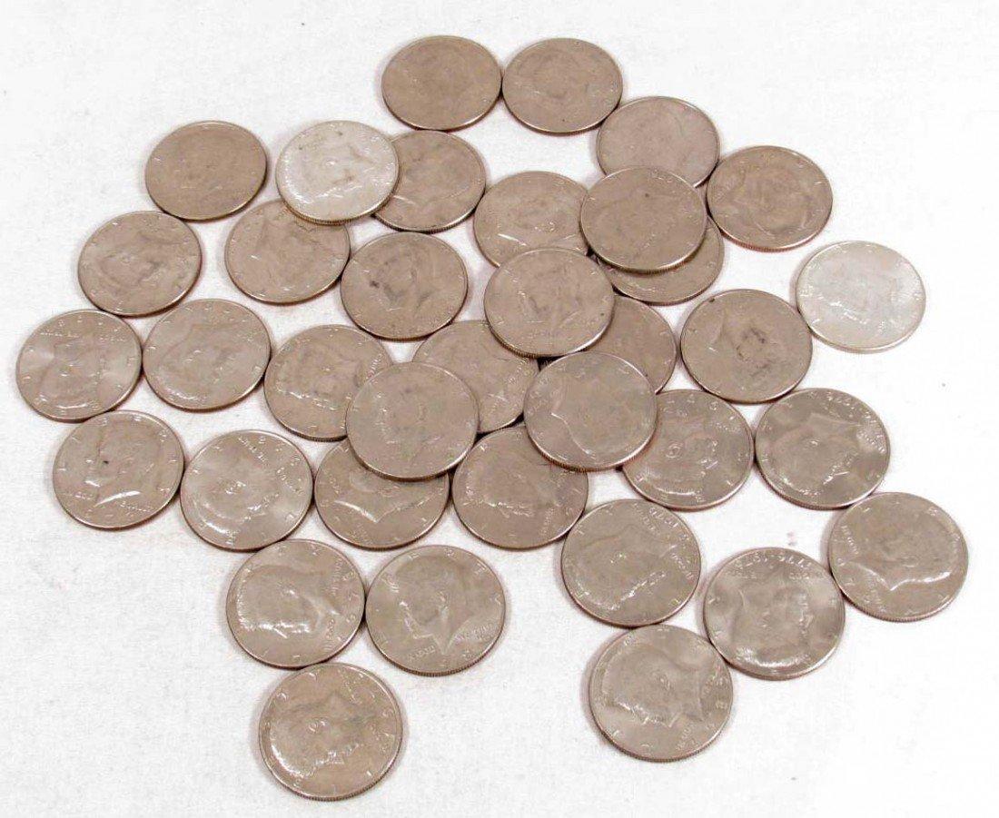 1: LOT OF US KENNEDY HALF DOLLARS