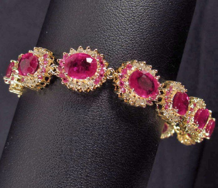 2: 18K GOLD PLATE OVER STERLING SILVER RUBY AND DIAMOND