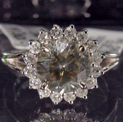 9: 14K WHITE GOLD DIAMOND UNITY RING - SZ. 7
