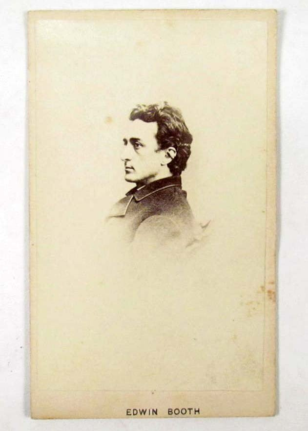 10: EARLY CDV PHOTO OF EDWIN BOOTH