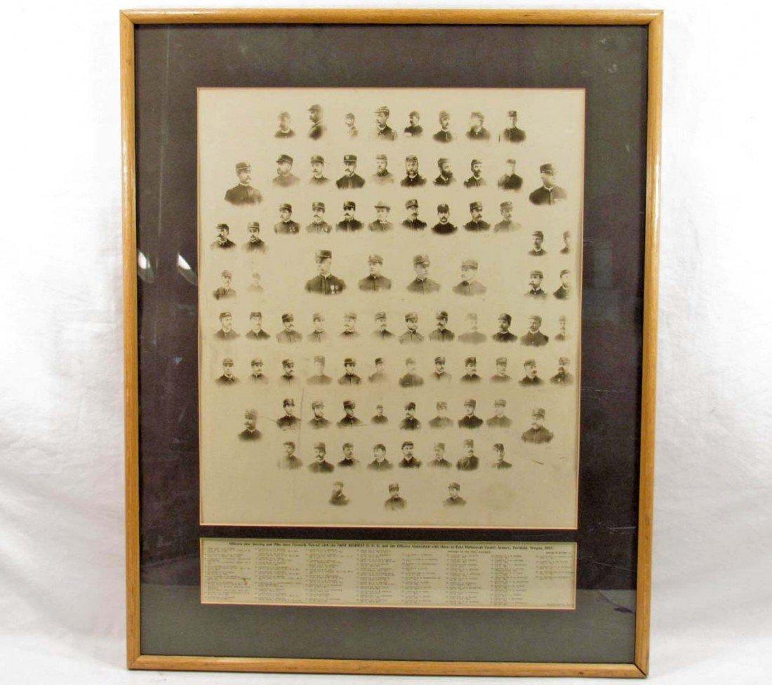 19: 1897 OREGON NATIONAL GUARD PHOTO - FRAMED