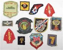 190 LOT OF 12 US VIET NAM ERA ARMY AND WW2 USMC MARINE