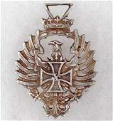 654: GERMAN NAZI BLUE DIVISION MEDAL - RUSSIA 1941